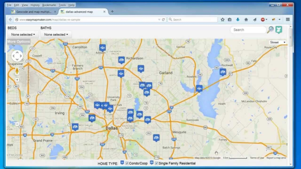 Create A Map: Easily Map Multiple Locations From Excel Data - How To for Create Printable Map