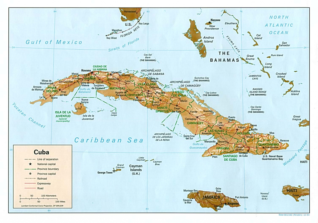 Cuba Maps - Perry-Castañeda Map Collection - Ut Library Online in Printable Outline Map Of Cuba