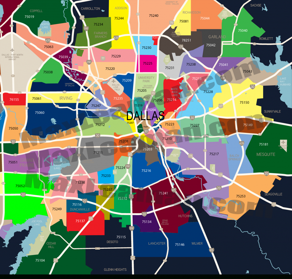 Dallas Zip Code Map | Mortgage Resources throughout Dallas Zip Code Map Printable