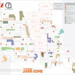 Dark Zone And Pve Boss Maps (Updated)The Division Dark Zone Inside The Division Printable Map
