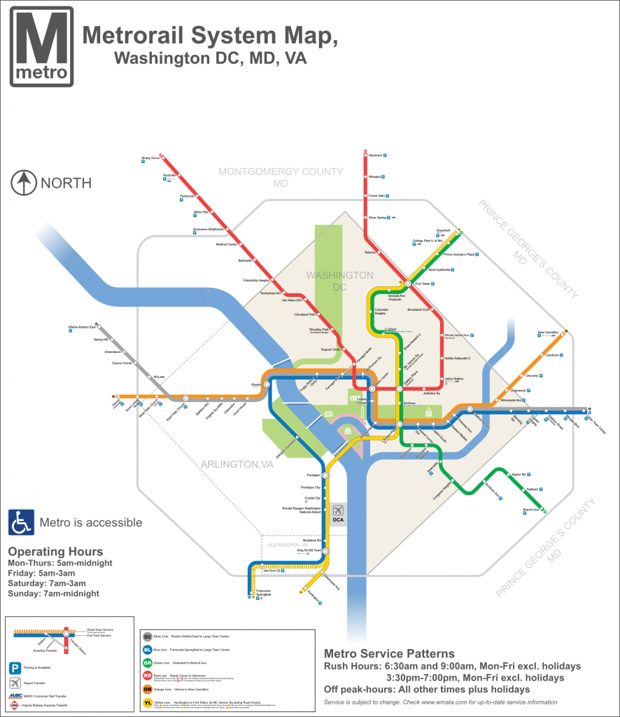 Dc Metro Map - Dc Transit Guide within Printable Washington Dc Metro Map