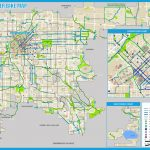 Denver Bike Map (2017) Throughout Printable Map Of Denver