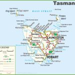 Detailed Tasmania Road Map With Cities And Towns Inside Printable Map Of Tasmania