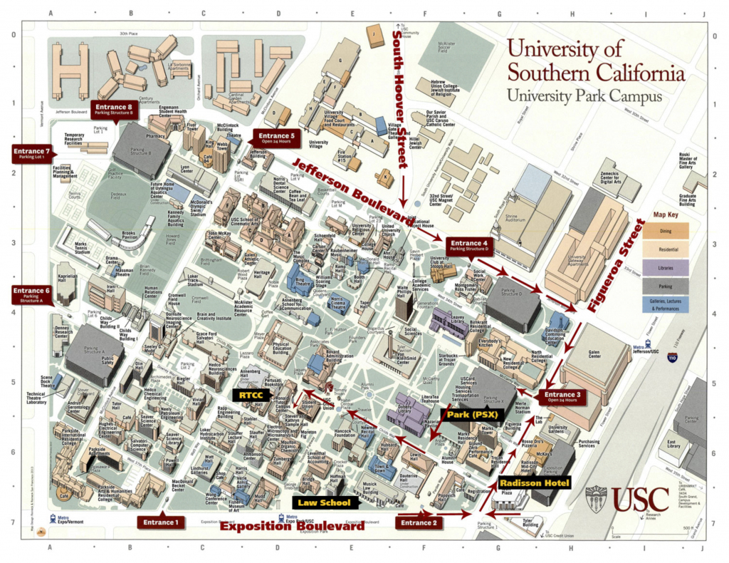 Detaileducimap Free Print Map University Of California Irvine Campus intended for Usc Campus Map Printable