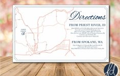 Printable Map Directions For Invitations
