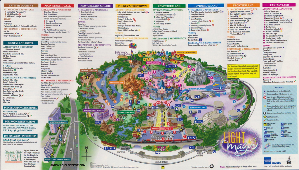 Disneyland Guide Map From Map Of California Springs Printable Map Of intended for Printable Disney Maps