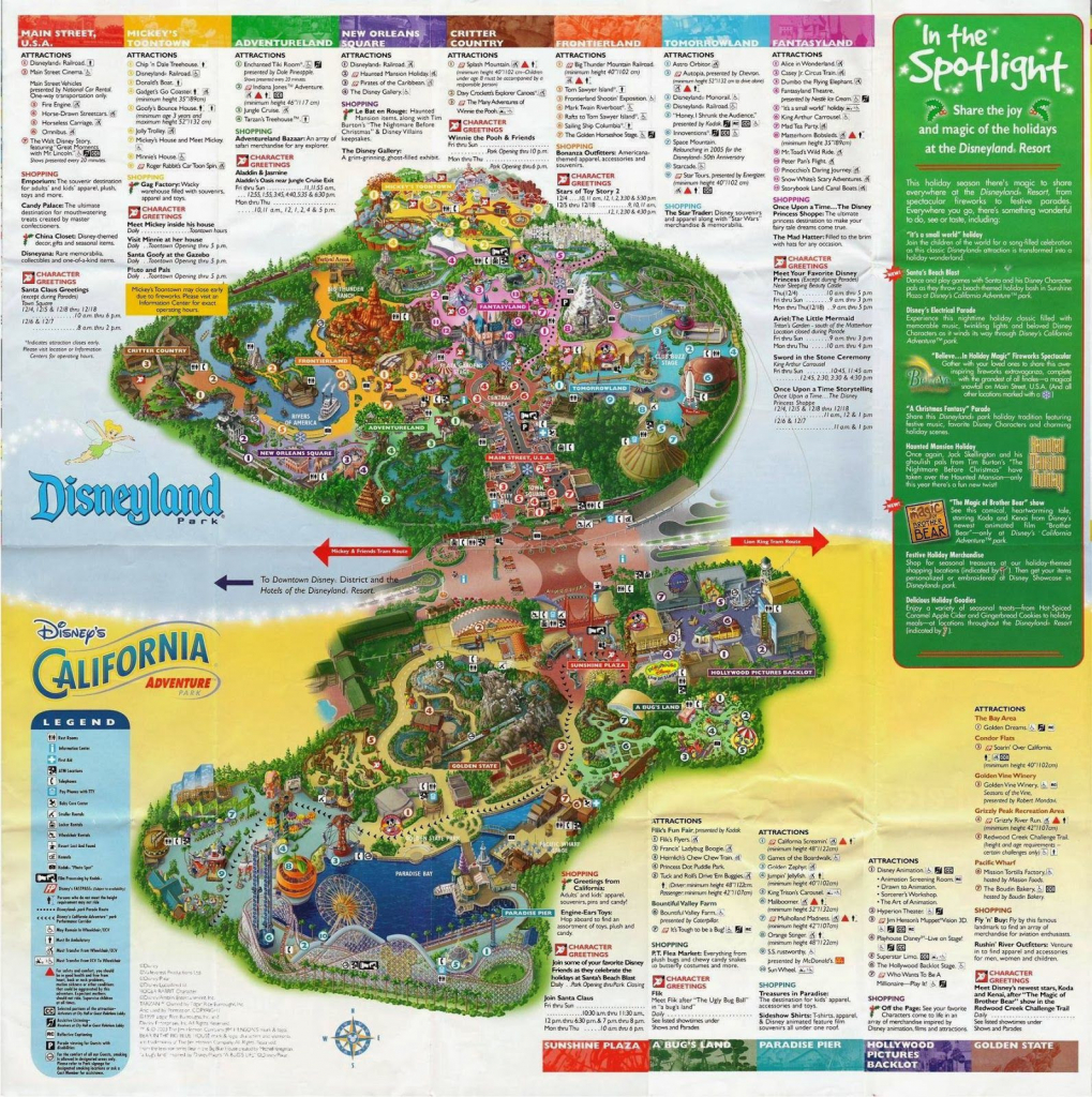 Disneyland Park California Map Outline Map Disney California intended for Printable Disneyland Map