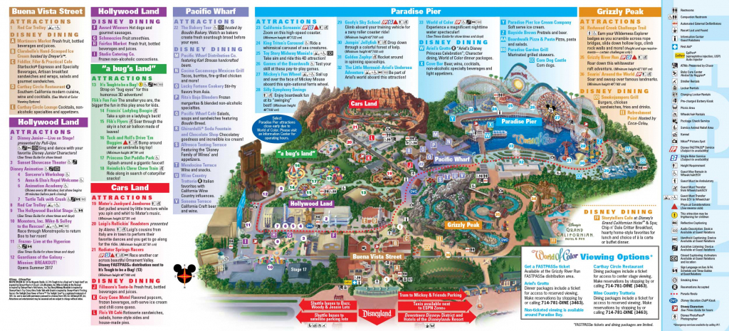 Disneyland Park Map In California, Map Of Disneyland - California throughout Printable Map Of Disneyland And California Adventure