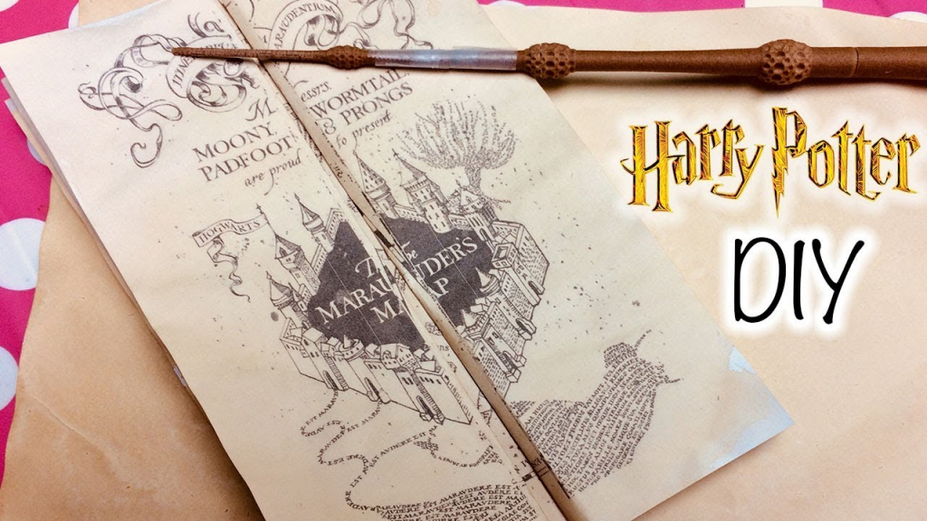 Diy Harry Potter Marauder's Map Printable And Parchment Easy Diy for Hogwarts Map Printable