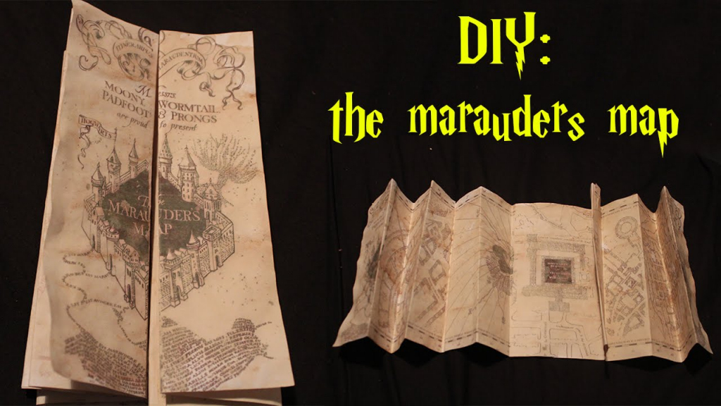 Diy: Marauders Map! - Youtube inside Marauders Map Template Printable
