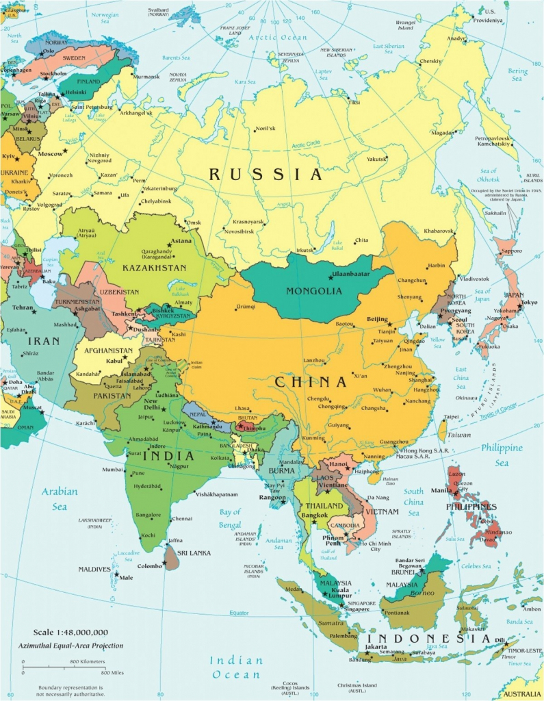 Download Asia Map No Labels Montessori 19 Free Printable Maps Europe within Free Printable Map Of Asia