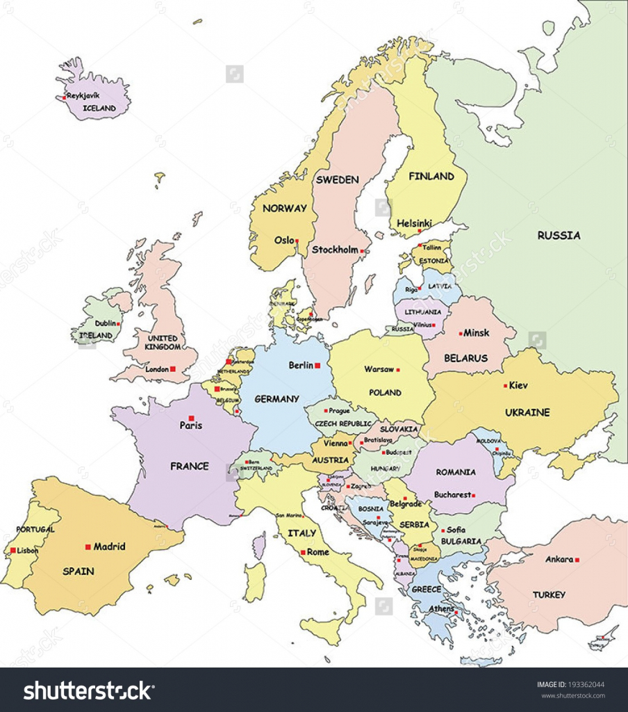 Download Europe Map Cities And Countries Major Tourist Attractions with Free Printable Map Of Europe With Countries And Capitals