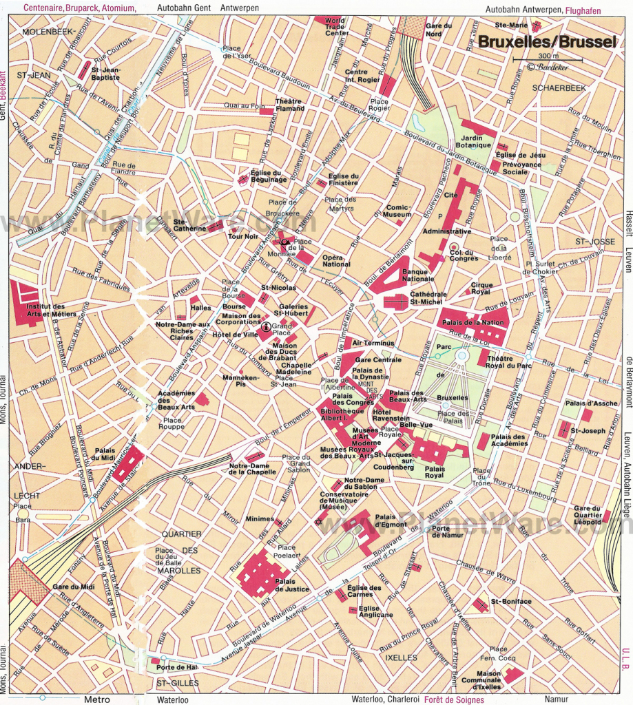Download Map Of Brussels City Major Tourist Attractions Maps At with regard to Printable Map Of Brussels
