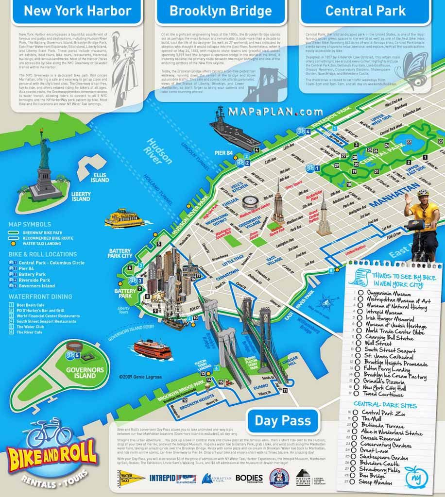 Download Map Of New York City Attractions Printable | Major Tourist with regard to Printable Map Of Central Park New York