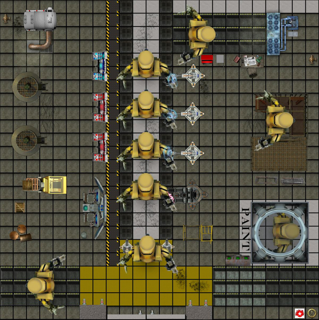 Dundjinni Mapping Software - Forums: Robot Factory Heroclix Map intended for Printable Heroclix Maps