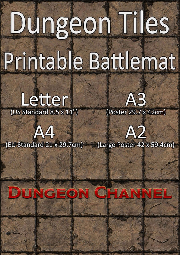 Dungeon Tiles Printable Battlemat Channel Drivethrurpg | Dungeons with regard to Printable D&d Map Tiles
