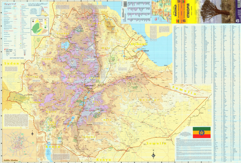 Ethiopia Maps | Maps Of Ethiopia for Printable Map Of Ethiopia