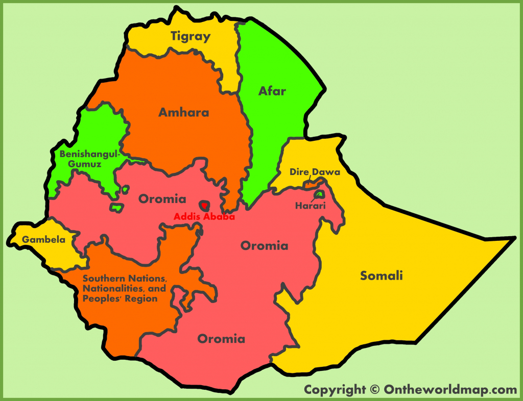 Ethiopia Maps | Maps Of Ethiopia in Printable Map Of Ethiopia