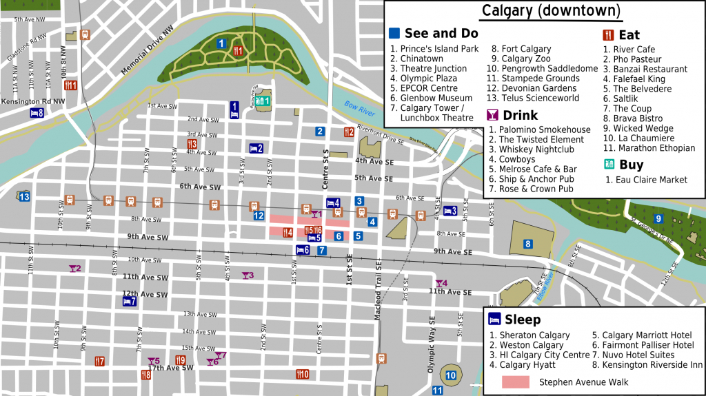File:calgary Downtown Map - Wikimedia Commons in Printable Map Of Downtown Calgary