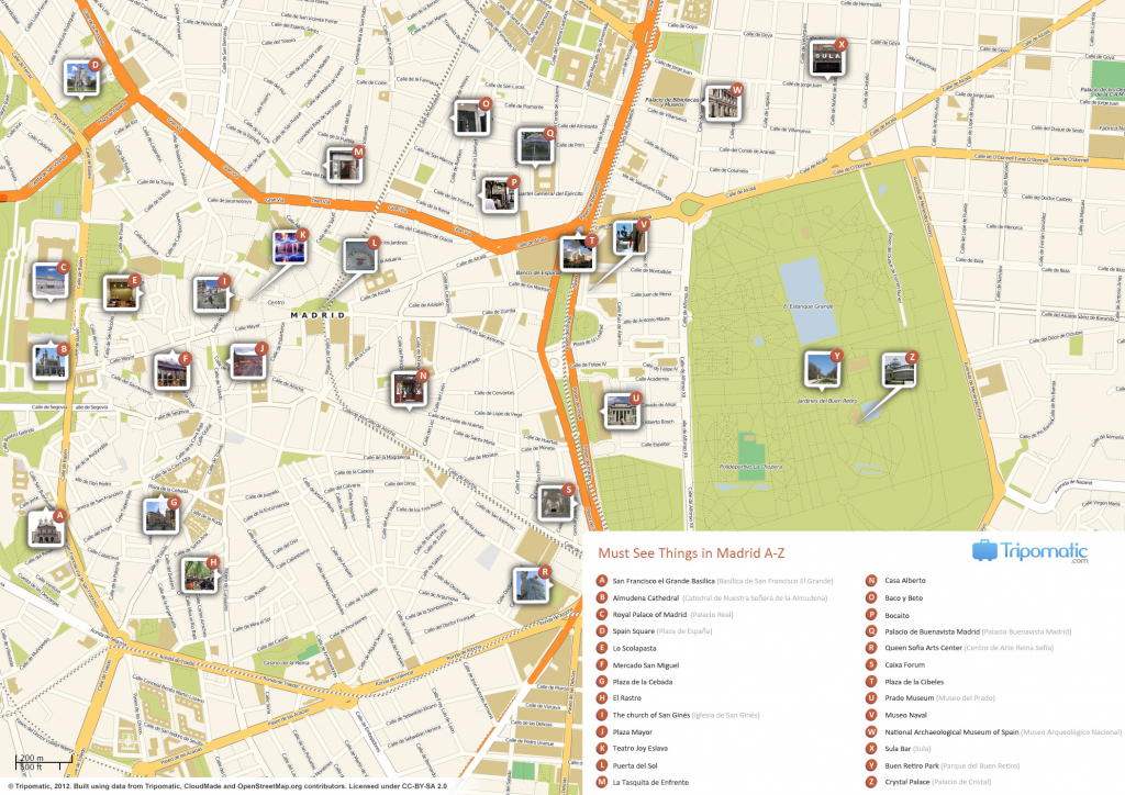 File:madrid Printable Tourist Attractions Map - Wikimedia Commons in Printable Map Of Madrid
