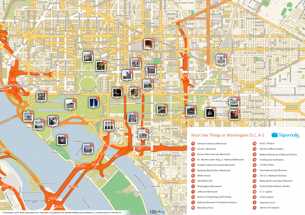 File:washington Dc Printable Tourist Attractions Map - Wikimedia with Tourist Map Of Dc Printable