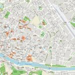 Florence Attractions Map Pdf   Free Printable Tourist Map Florence In Printable Map Of Florence Italy