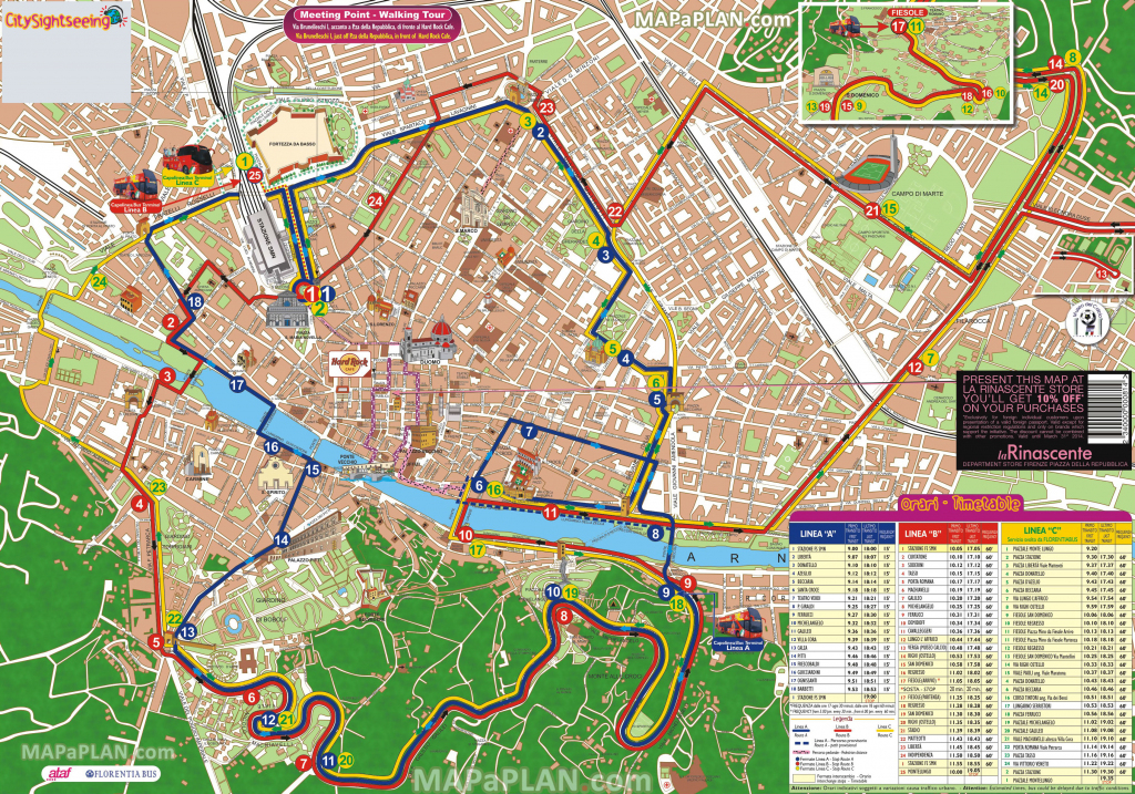 Florence Maps - Top Tourist Attractions - Free, Printable City inside Printable Walking Map Of Florence