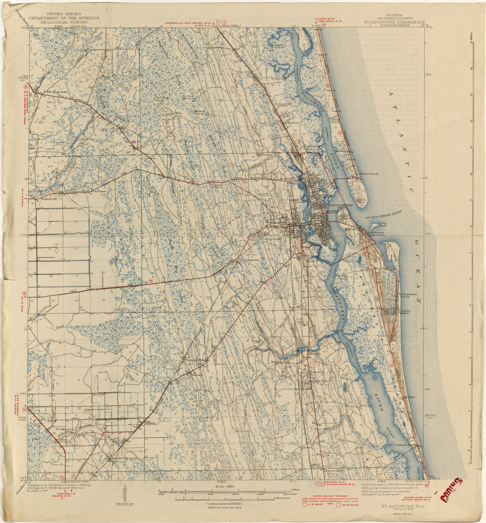 Florida Historical Topographic Maps - Perry-Castañeda Map Collection pertaining to Printable Old Maps