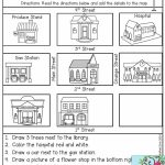 Follow Directions  Read The Directions And Add The Details To The Within Map Symbols For Kids Printables