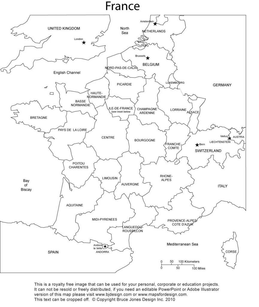 France Blank Printable Map With Provinces, Royalty Free, Clip Art throughout Free Printable Map Activities