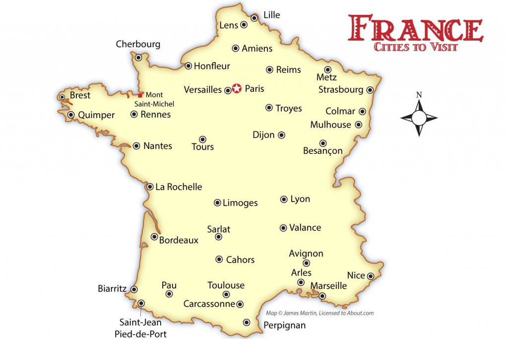 France Cities Map And Travel Guide pertaining to Printable Map Of France With Cities