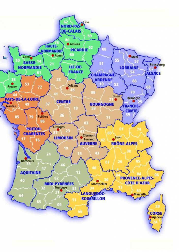 France Maps | Printable Maps Of France For Download with regard to Printable Map Of France