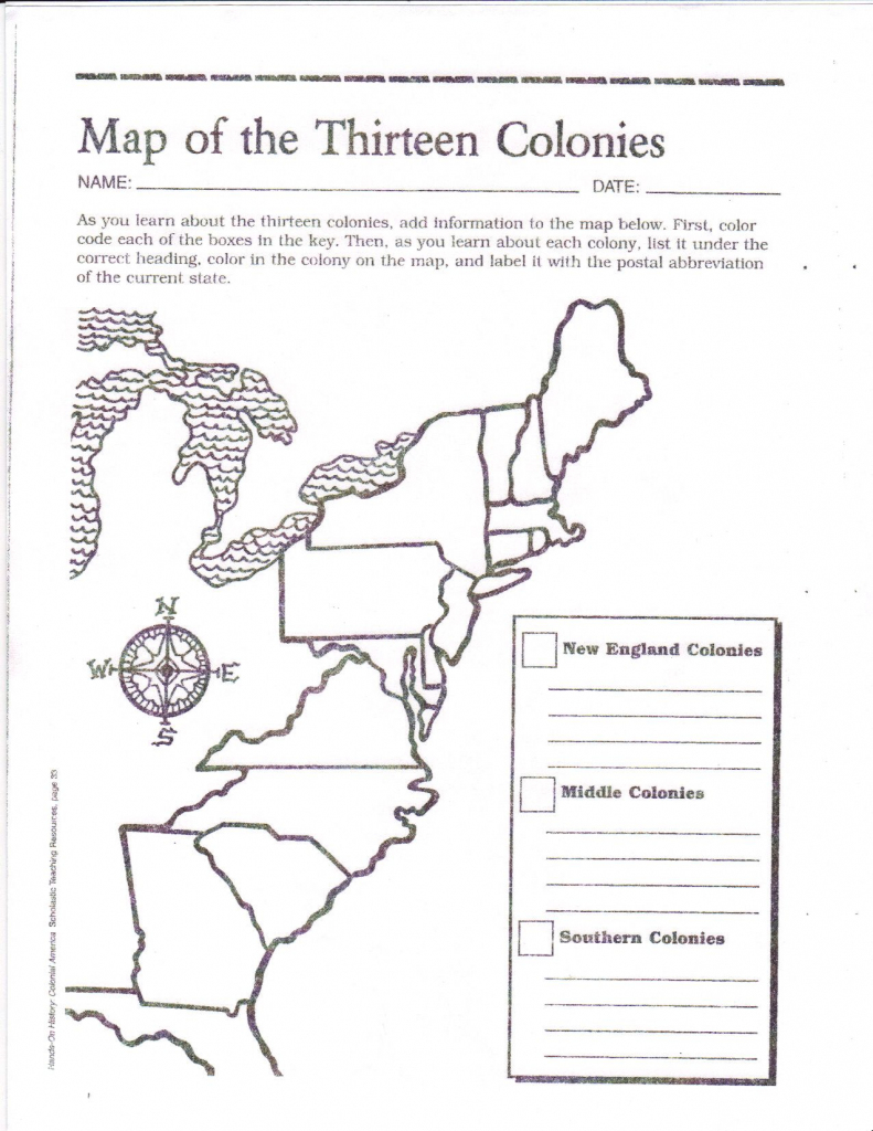 Free Printable 13 Colonies Map … | Activities | Socia… in Printable Map Of The 13 Colonies With Names