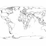 Free Printable Black And White World Map With Countries Labeled And Pertaining To World Map Black And White Printable With Countries