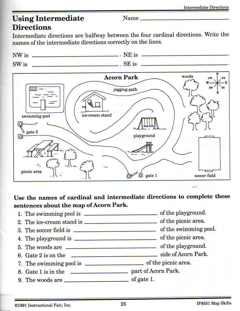 Free Printable Grid Map Worksheets |  Free Elementary Worksheets regarding Printable Map Worksheets