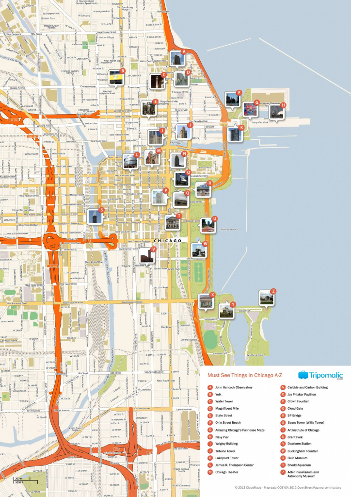 Free Printable Map Of Chicago Attractions. | Free Tourist Maps with regard to Printable Walking Map Of Downtown Chicago