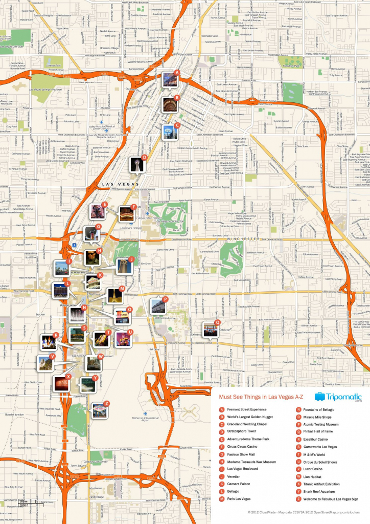 Free Printable Map Of Las Vegas Attractions. | Free Tourist Maps within Las Vegas Printable Map