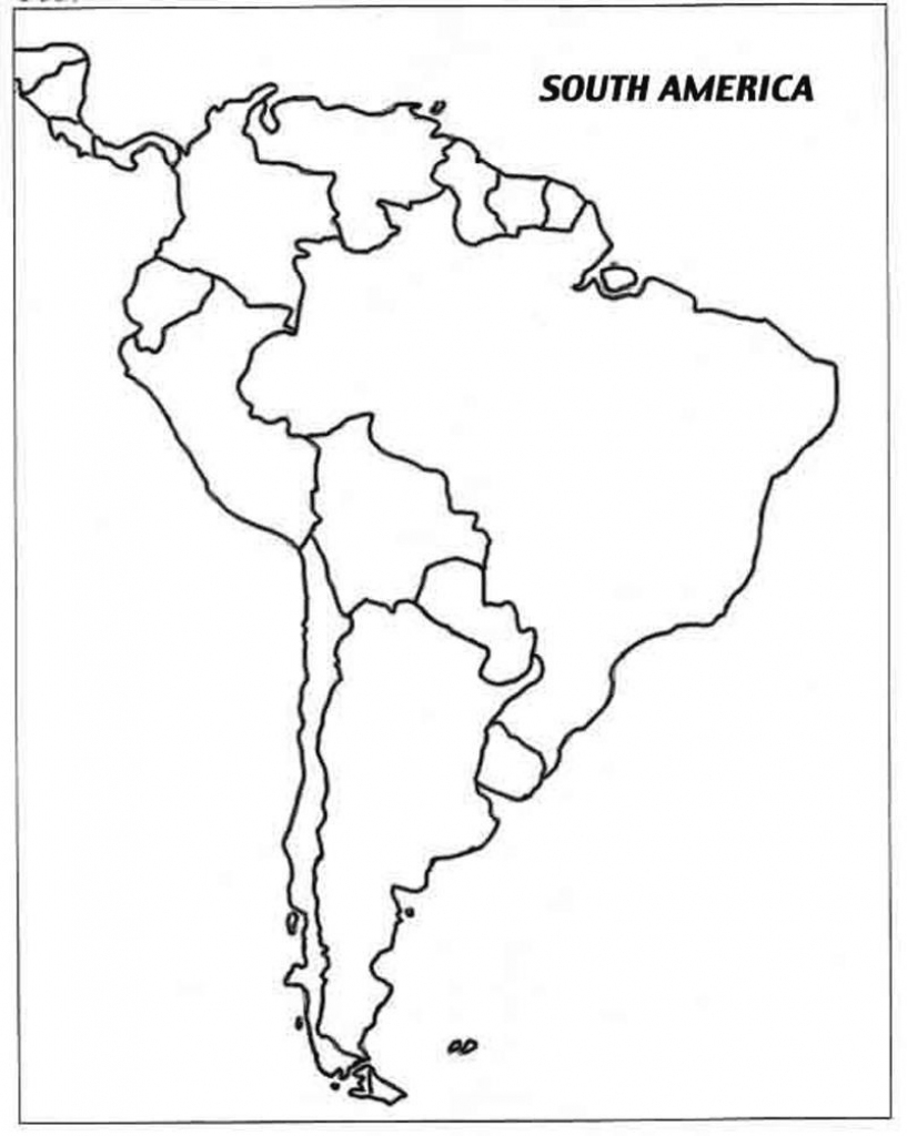 Free Printable Map Of South America And Travel Information throughout Printable Map Of South America