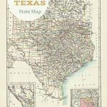 Free Printable Old Map Of Texas From 1885. #map #usa | Free Intended For Printable Old Maps