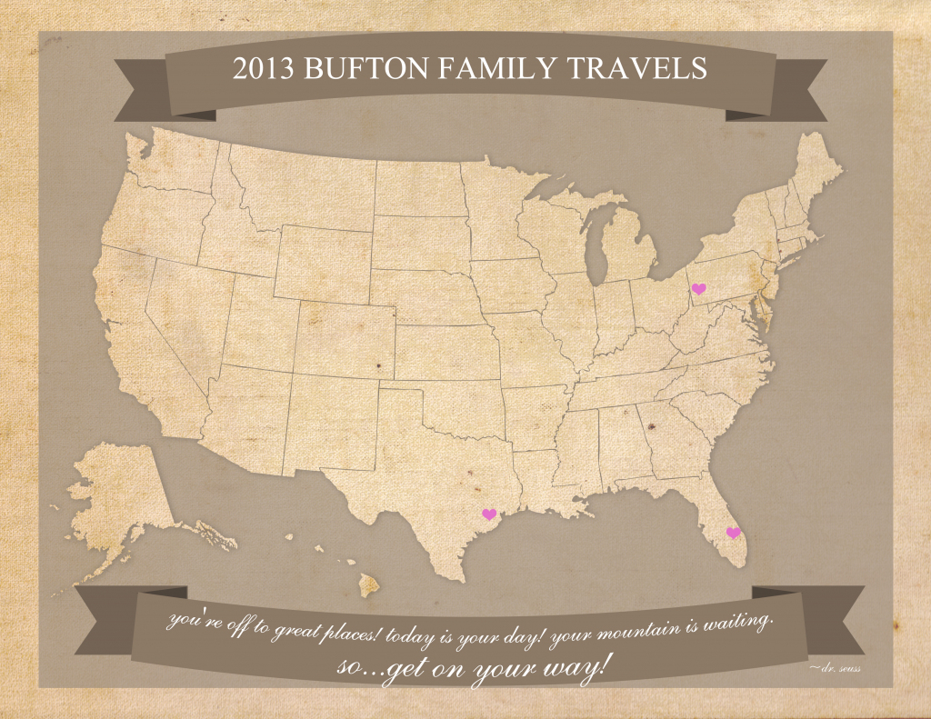 Free Printable United States Travel Map with regard to Printable Map Paper