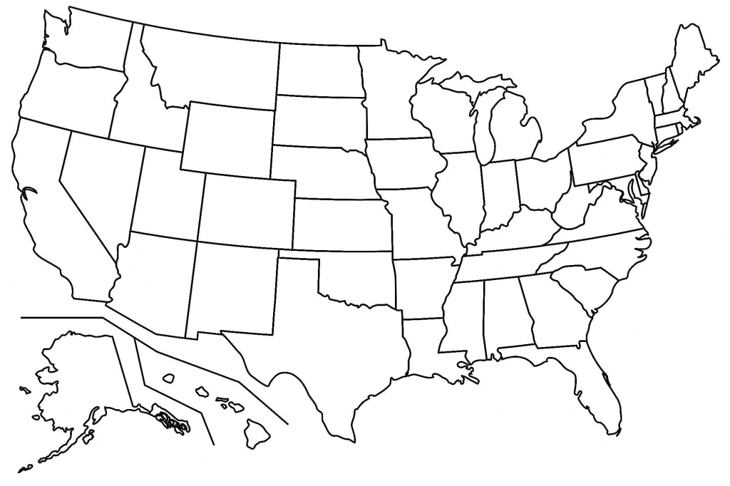 Free Printable Us Map Blank States Valid Outline Usa With At Maps Of intended for Free Printable State Maps