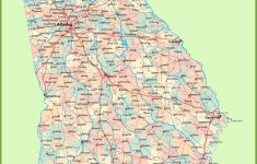 Georgia Road Map With Cities And Towns | Ga Map In 2019 | Highway inside Georgia State Map Printable
