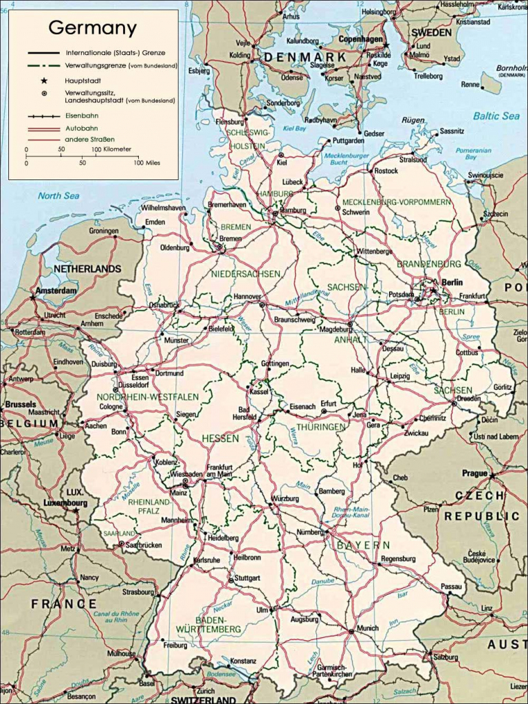 Germany Maps | Printable Maps Of Germany For Download in Printable Map Of Germany With Cities And Towns