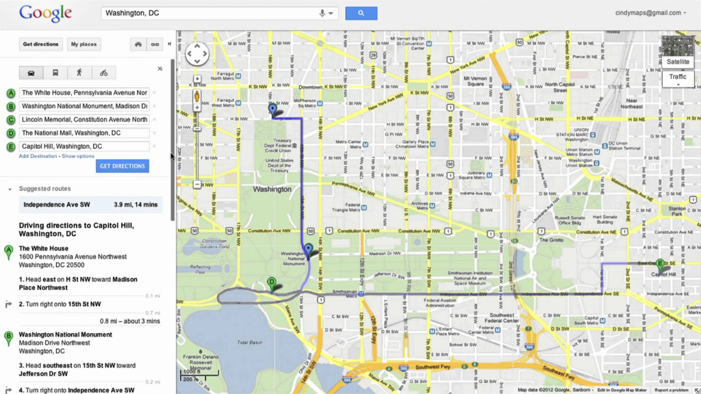 Google Map Of California Cities Free Printable Saving Directions In within Printable Google Maps