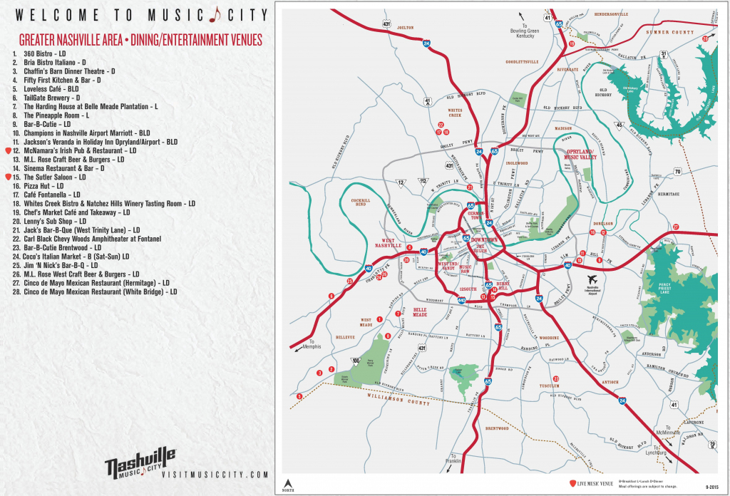 Greater Nashville Map - Printable Map Of Nashville | Printable Maps inside Printable Map Of Nashville
