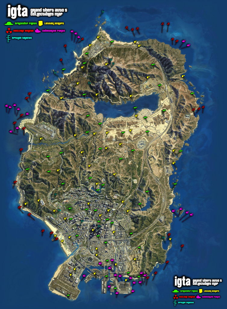 Gta 5 Map inside Gta 5 Printable Map