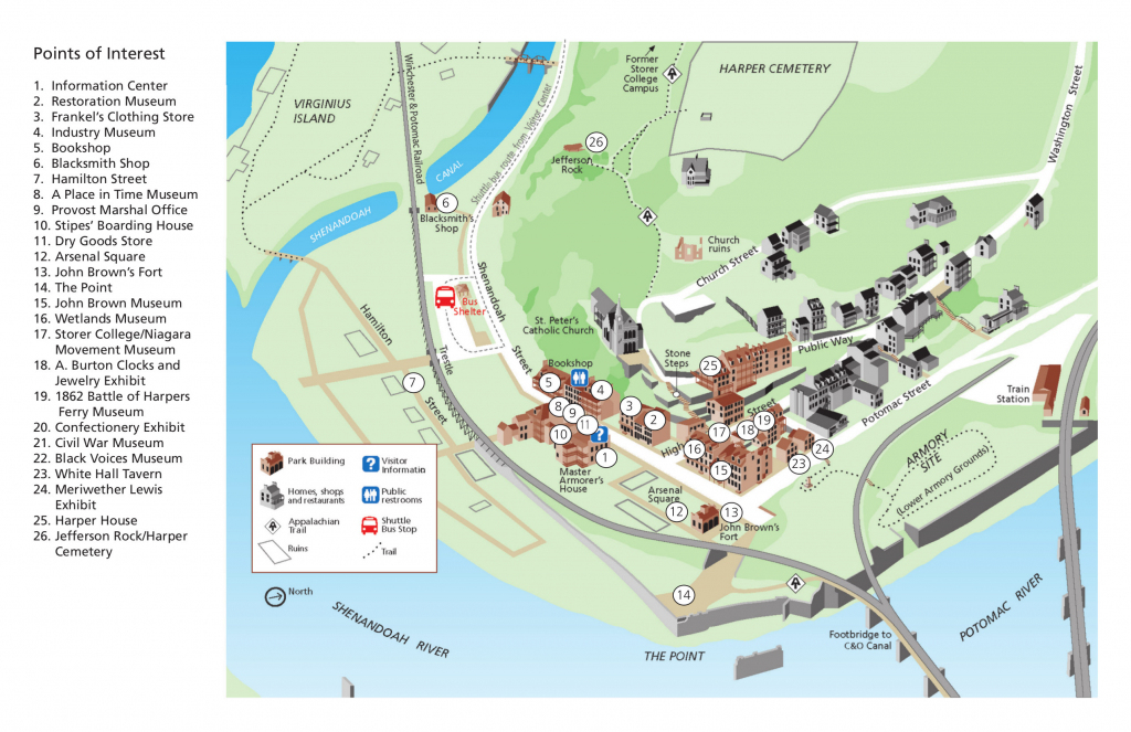 Harpers Ferry Maps | Npmaps - Just Free Maps, Period. intended for Printable Town Maps