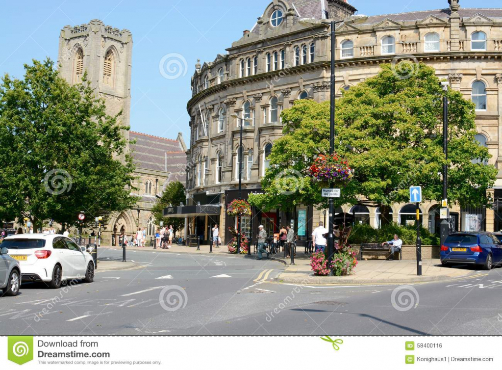 Harrogate Town Centre Editorial Photo. Image Of Road - 58400116 in Printable Street Map Of Harrogate Town Centre