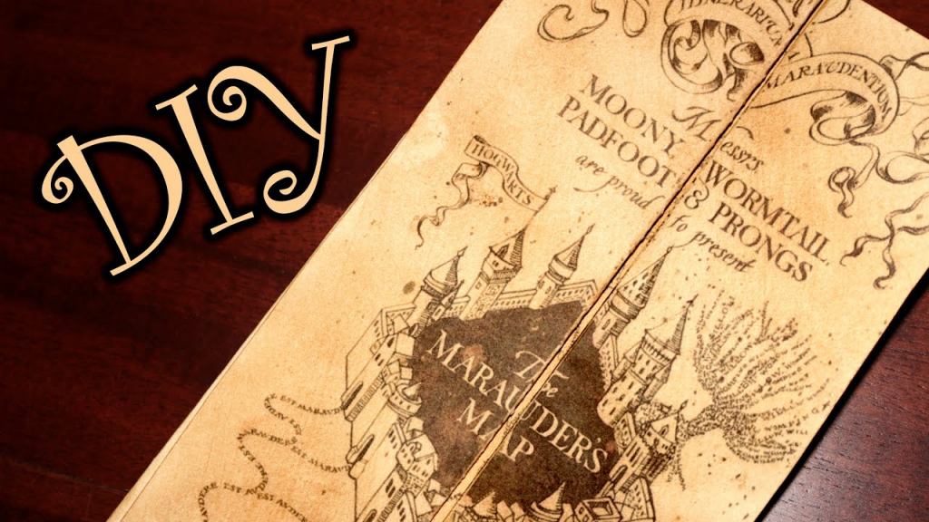 Harry Potter Marauder's Map - Diy - Youtube with The Marauders Map Printable