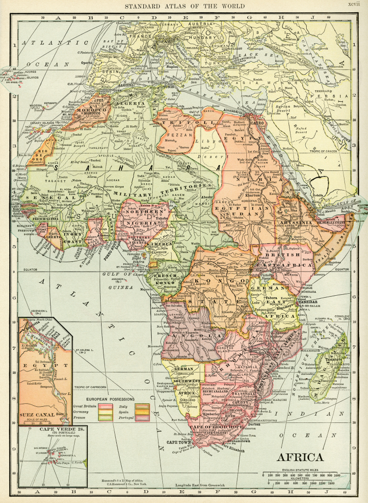 Historical Geography Map Of Africa ~ Free Digital Image - Old Design in Printable Antique Maps Free